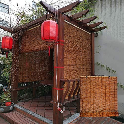 L-DREAM Persianas De Bambú Exterior Persianas Enrollables, Pantalla De Privacidad, Sombra 60%, Jardín, Patio, Balcón, Baño, Casa De Perro, Cocina Cortina De Madera