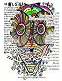 owls Coloring book For Russian Speaking People Mysterious Fantastic For Children Adults Teens Retirees Elderly For Home School Hospital Nursing home Use Everywhere By Surrealist Artist Grace Divine