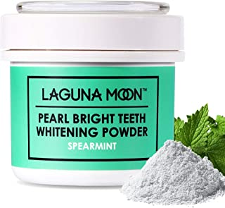 Teeth Whitening Powder by Lagunamoon,Natural no Damage to Enamel or Gum Premier Alternative to Activated Charcoal Powder Easy Cleaning FDA Approved