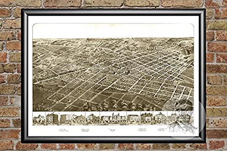 Amazon Com Ted S Vintage Art Adrian Michigan 1866 Vintage Map Print Historic Lenawee County Mi Art Digitally Restored On Museum Quality Matte Paper 12 X 18 Posters Prints