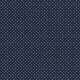 babrause® Baumwollstoff Pünktchen Navy Blau Webware