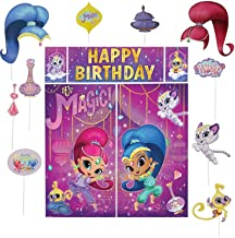 Amscan Shimmer and Shine Scene Setters with Photo Booth Props