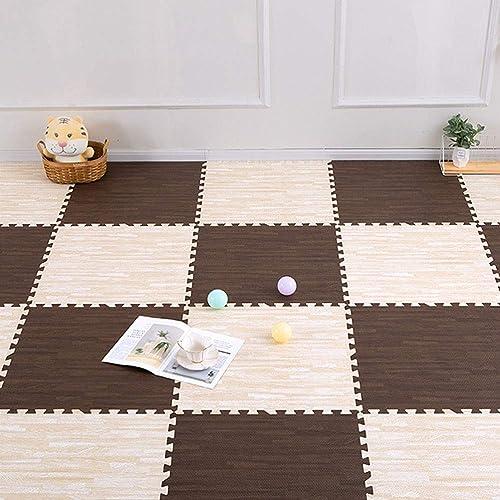 ZI LING SHOP- Tapis de jeu pour bébé Tapis de jeu Xpe Puzzle pour bébé épaissi Tapete Infante blanket (Couleur   A, Taille   30x30x1.9cm [16 pieces])