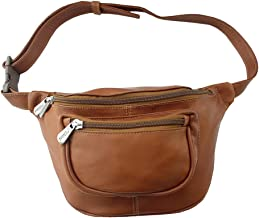 Piel Leather Travelers Waist Bag, Saddle, One Size