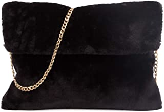 57a3d36d4798 Amazon.com: ladies Black Fur Crossbody Bag