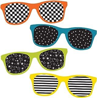 Carson Dellosa – School Pop Sunglasses Mini Colorful Cut-Outs, Classroom Décor, 33 Pieces