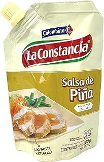 Colombian Pineapple Sweet Sauce Salsa De Piña Colombiana La Constancia para Perros Calientes, Hamburgesas, Comida Rapida, Carnes, y mucho mas 200g