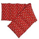 Cojín térmico compartimentado en 8 con semillas de colza 75x20cm | rojo con corazones | Almohada térmica para microondas | Calor y frío | Saco térmico con semillas