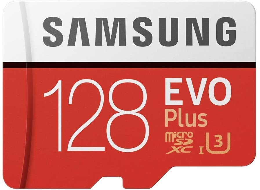 Samsung MicroSD EVO Plus 100MB/s (U3) Micro SDXC Card with Adapter & Memory Card Reader (MB-MC128GA) (128GB)