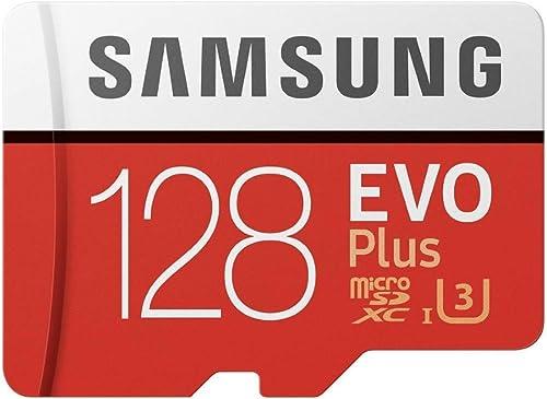 Samsung MB-MC128GA/EU Carte mémoire MicroSD Evo Plus 128G avec adaptateur SD - Rouge/Blanc