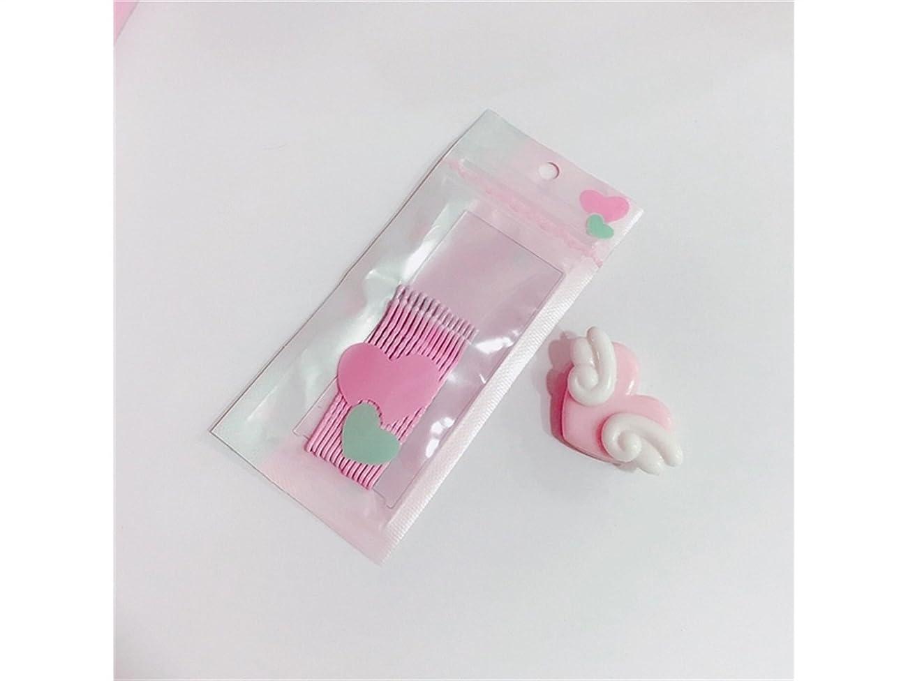 リズミカルなに慣れ次へOsize 美しいスタイル ワードクリップウェーブクリップキャンディーカラーヘアクリップバンズヘアピン(ライトピンク)