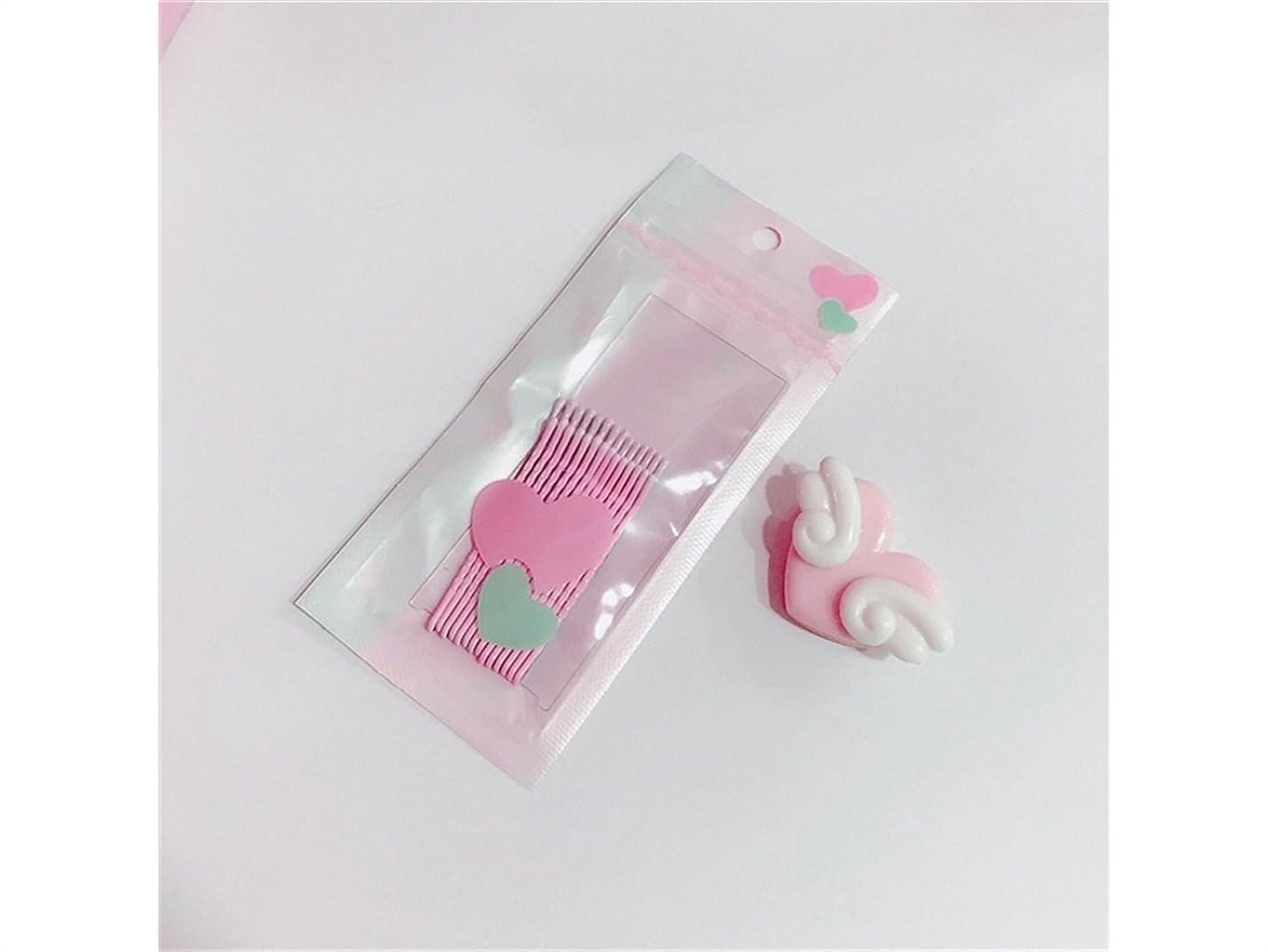 ふける運ぶ夫婦Osize 美しいスタイル ワードクリップウェーブクリップキャンディーカラーヘアクリップバンズヘアピン(ライトピンク)