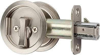 Citiloc Round Bed / Bath Privacy Pocket Door Latch Satin Nickel