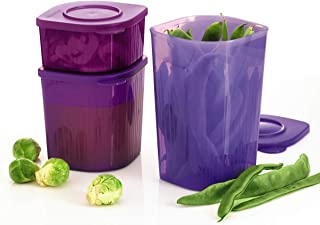 Tupperware Fresh N Cool Refrigerator Storage Containers, set of 3