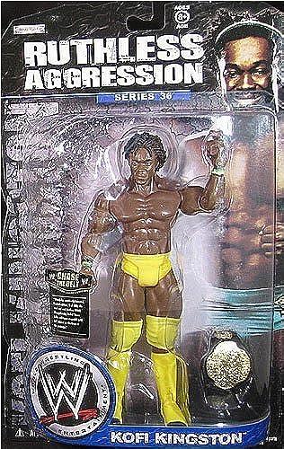 Kofi Kingston - Ruthless Aggression 36 WWE Spielzeug WRESTLING ACTIONFIGUR im Lager