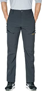 Nonwe Men's Warm Windproof Mountain Fleece Hiking Snow Ski Pants