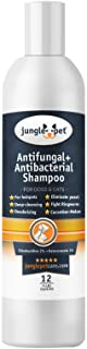 Antibacterial & Anti Fungal Medicated Shampoo for Dogs & Cats with Ketoconazole Chlorhexidine for Hotspots, Yeast, Itching...