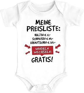 MoonWorks Baby Body mit Spruch lustig Meine Preisliste Bio-Baumwolle Jungen & Mädchen