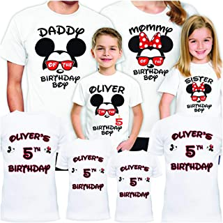 Disney Birthday Shirts Set for Family Party Mickey Matching Trip Gift