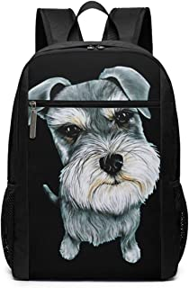 Cute Schnauzer Anti Theft Backpack College 17in Bag School Casual Daypack for Women&Men Casual Hiking Travel Daypack
