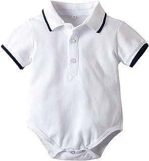Bebe Niño Polo Body Pelele Manga Corta Mono Mameluco Ropa Verano de la Traje Algodón del Camisa Caballero Pijama