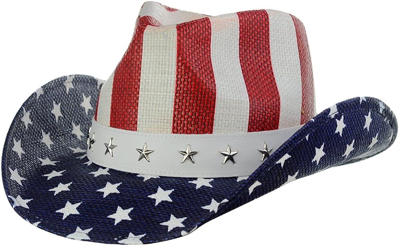 NYFASHION101 Classic Las Vegas Mall Complete Free Shipping Vintage USA American Patriotic Cowboy Flag
