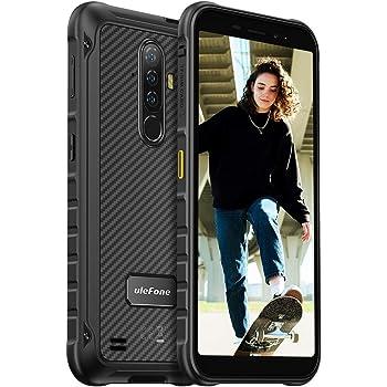 Rugged Cell Phones Unlocked Ulefone Armor X8, 4GB + 64GB, Android 10, 5.7 inch Waterproof Phones Unlocked, 13MP Triple Rear Camera, 5080mAh Big Battery, Dual 4G, Type C, GPS, NFC, US Version - Black