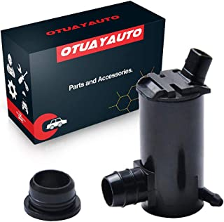 LUJUNTEC Windshield Washer Pump fit for 1995-1999 Hyundai Accent 1996-2006 Hyundai Elantra 1995-2010 Hyundai Sonata 2007-2008 Kia Amanti 2003-2006 Kia Optima Factory OEM 98510-3B000