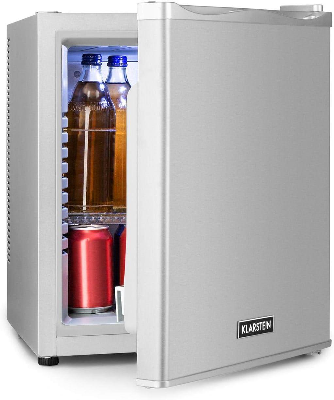 Minibar para aperitivos y bebidas Negro Clase A+ Ruido 33dB Klarstein Happy Hour Mininevera 2x bandejas extra/íbles Temperatura: 5-15 /°C Volumen: 32 L