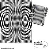 1art1 Ilusiones Ópticas, Diseño geométrico En Blanco Y Negro 1 Póster Impresión Artística (80x60 cm) + 1 Alfombrilla para Ratón (23x19 cm) Set Regalo