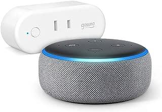 Echo Dot 第3世代 - スマートスピーカー with Alexa、ヘザーグレー + ゴウサンド(Gosund) WiFi スマートプラグ gs-wp6-1-jp