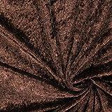 Fabulous Fabrics Pannesamt Dunkelbraun – Weicher SAMT