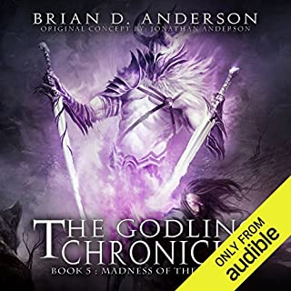 Page de couverture de The Godling Chronicles: Madness of the Fallen, Book 5