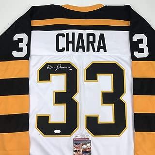 Autographed/Signed Zdeno Chara Boston White Retro Hockey Jersey JSA COA