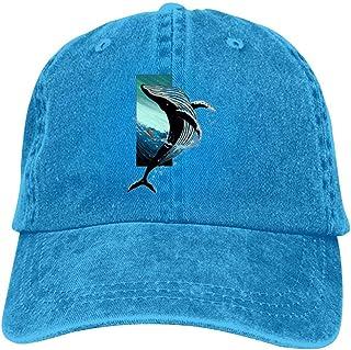 goodFarewell 3D Painting Whale Cowboy Hat Adult Neutral Run Cap Sunscreen Cowboy Hats