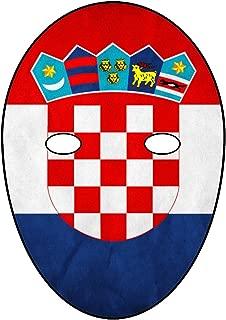 Soccer World Cup - Croatia - DIY Card FACE MASK KIT - DO IT Yourself