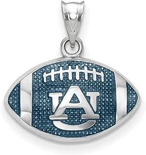 Sterling Silver Auburn University Enameled Football Pendant Alabama 17 mm 19 mm Blue Pendants & Charms Jewelry