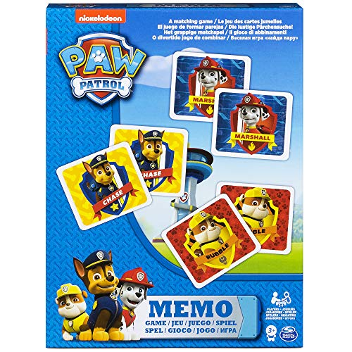 Paw Patrol Memo Game in Smaller Box, Kids Games for 3+ Years & Above