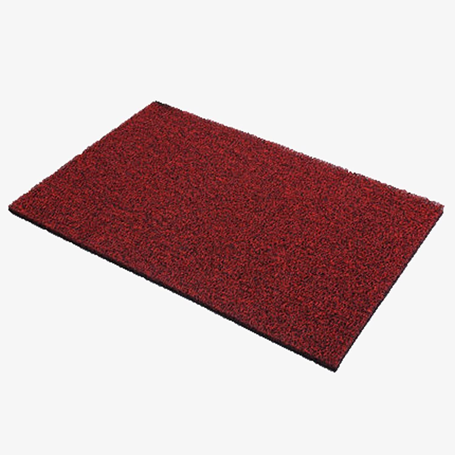 Modern Entrance Mat Heavy Duty Doormat Indoor Mats for Entryway Dirt Trapper Mats-Non Slip,Durable,Tough-Black and red 60x90cm(24x35inch)