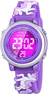 Kids Watches, 3D Cartoon Waterproof Watch with 7 Color...