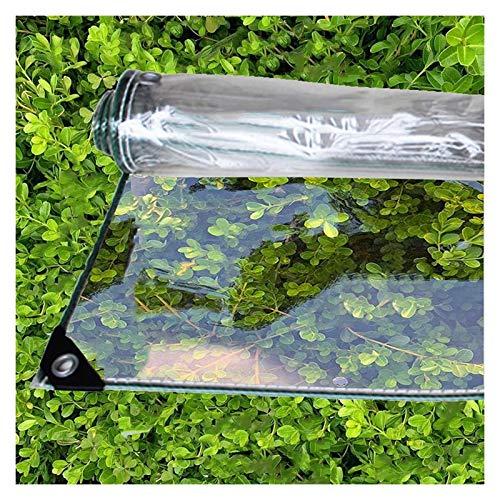 ALGWXQ Lonas Transparente De Vidrio Suave Fácil De Instalar Alta Estabilidad Patio Tienda Cubierta De Protección De Almacén Carpa A Prueba De Lluvia Y Viento, 2 Espesores, 20 Especificaciones
