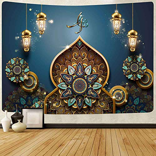 Flor abstracta tapiz linterna de calabaza cielo nocturno arte colgante de pared fondo tela sala de estar dormitorio decoración a18 130x150cm