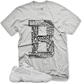 New_B_ BLESSED T Shirt for Adidas Yeezy 500 Salt