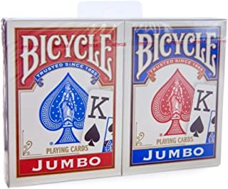 Brybelly Bicycle Rider Back - Red & Blue Jumbo Index Playing Cards (1-Pack of 2)