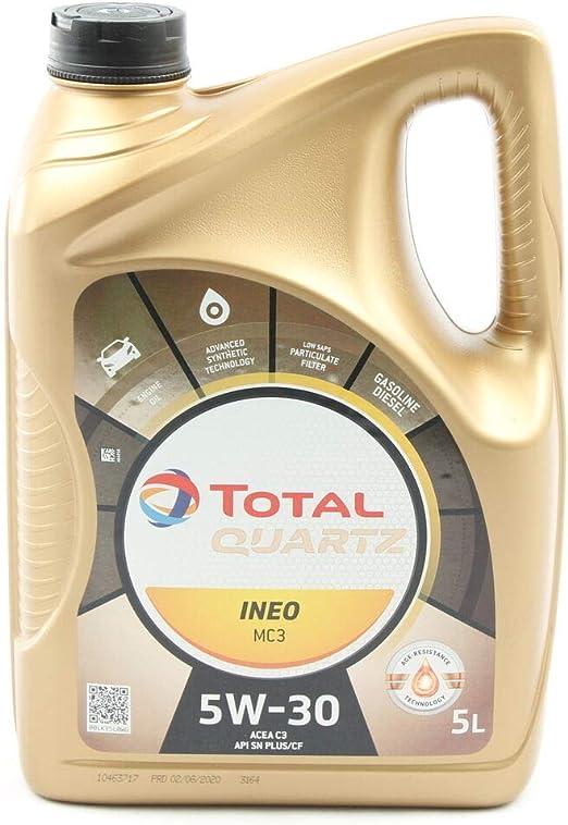 Total 3425901019505 Quartz Mc3 Ineo Mc3 5w 30 Motoröl Im 5 Ltr Kanister Auto