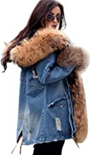 Roiii Plus Size Womens Military Hooded Warm Winter Coats Faux Fur Lined Parkas