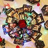 PartyKindom Überraschung Box, Explosion Box, DIY Geschenk Scrapbook und Foto-Album für Valentine...