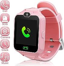 DUIWOIM Kids Smartwatch Phone Watch Mini Digital Camera with 1.44 Touch Screen Music Player Alarm Clock Calendar Calculator Birthday Gift for Boys and Girls(Pink)