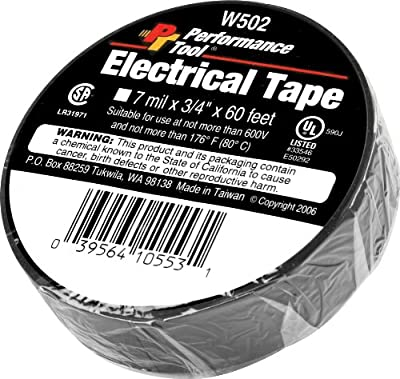 """Performance Tool W502 Electrical Tape, 3/4"""" x 60'"""