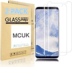 [2-Pack] Galaxy S9 Plus Screen Protector, MCUK [Case Friendly] Anti-Fingerprint Bubble-Free 9H Hardness Scratch-Resistant Premium Tempered Glass Screen Protector for Samsung Galaxy S9 Plus (Clear)